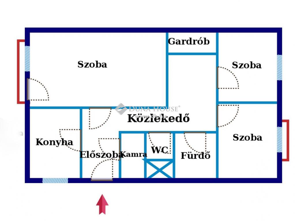 Eladó Lakás, Budapest - Első emeleti, 67 nm-es, 1+2 félszobás lakás, 4 emeletes házban!