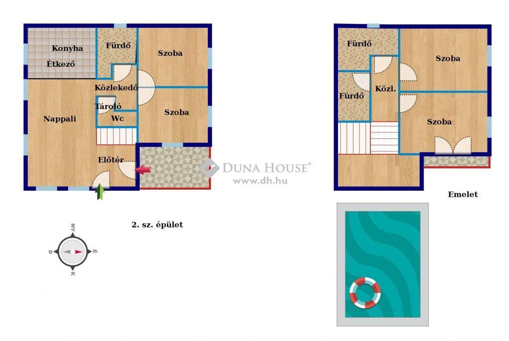 Eladó Ház, Somogy megye, Balatonszabadi - Családiház medencével